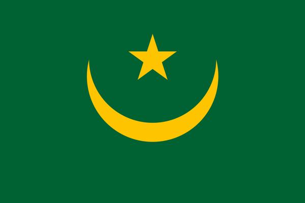 Vlajka Mauritánie.