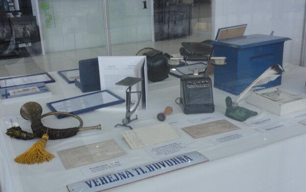 Exponáty Poštového múzea.