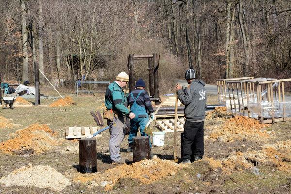 Lesopark nad Furčou. Všetko by malo byť hotové do konca apríla.