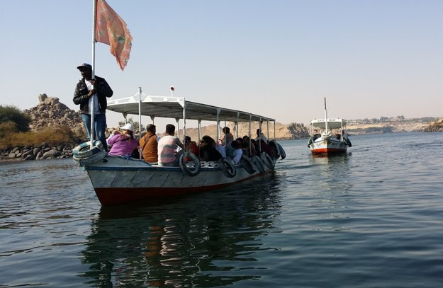 Lodné taxi k ostrovu Philae