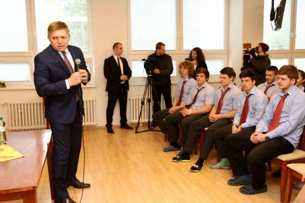 Dopoludňajšie stretnutie so študentmi.