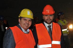 Majiteľ stavebnej firmy Dúha Miroslav Remeta a exriaditeľ NDS Róbert Auxt.