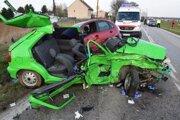 Vážna nehoda sa stala v smere z Ružindola na Trnavu.