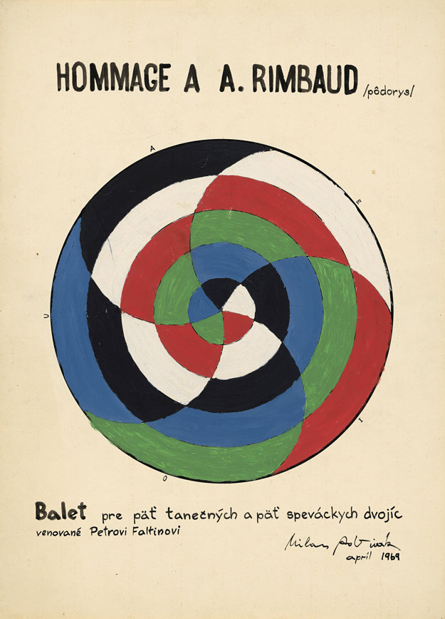 Hommage à A. Rimbaud. 1969. Súkromná zbierka, Brno