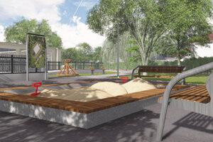 Vizualizácia plánovaného detského ihriska.