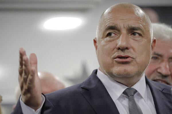 Líder víťaznej strany a bývalý bulharský premiér Bojko Borisov.