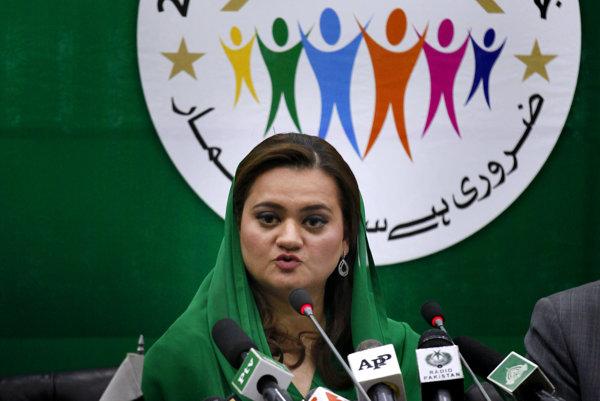 Pakistanská ministerka Maryam Aurangzebová.
