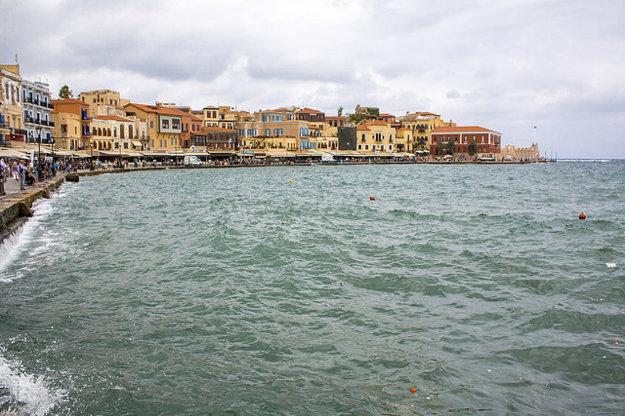 Mesto Chania, druhé najväčie na Kréte.