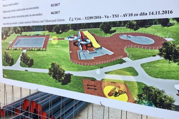 Vizualizácia budúceho kúpaliska. K dispozícii budú tri bazény.