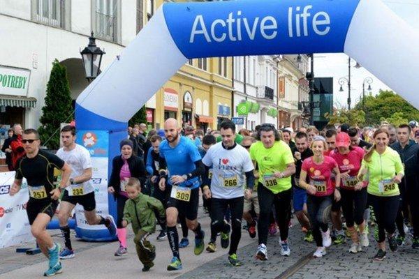 Momentka z Narcisového behu 2016 v Košiciach.