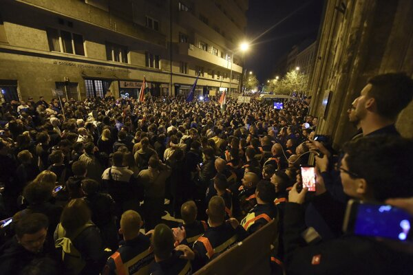 Budapeštianska demonštrácia.