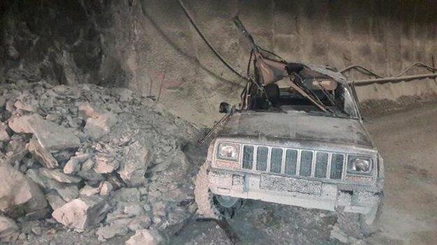 Takto vyzeral Jeep po zrážke.