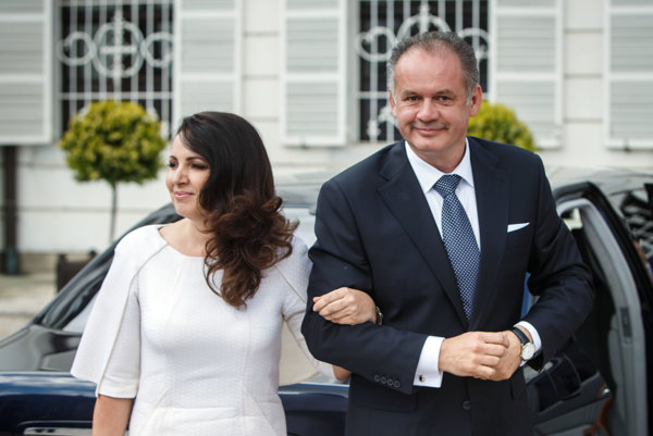 Andrej Kiska a jeho manželka Martina Kisková.