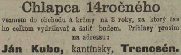 Slovenské noviny z 10. 3. 1914