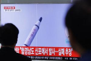 Severná Kórea odpálila zrejme ďalšiu balistickú strelu