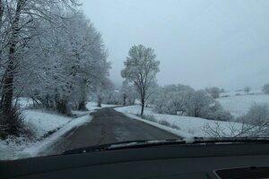 Dnešné ráno na ceste do Kunešova.