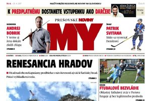 Titulná strana týždenníka MY Prešovské noviny č. 15/2017.