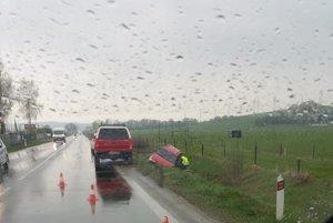 Miesto nehody vo Varíne.