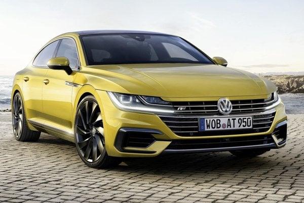 Športovo elegantná limuzína Volkswagen Arteon. Charakteristickým dizajnérskym prvkom modelu Arteon, ktorý je v sortimente volkswagenov nad modelom Passat, je novo tvarovaná predná maska.
