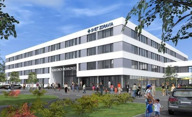 Nová nemocnica v Michalovciach. Štvorpodlažný pavilón má byť dokončený a v prevádzke začiatkom roka 2018. Náklady na výstavbu a vybavenie modernej nemocnice dosiahnu vyše 34 miliónov eur.