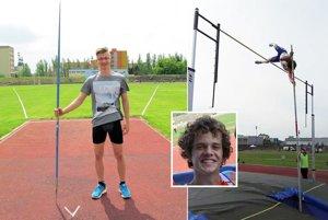 Padali aj osobné rekordy. Marek Taškár (vľavo) hodil prvýkrát za 70-metrovú hranicu. Maroš Ralík sa vrátil po zranení s vyrovnaným osobným rekordom.