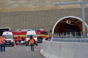 Cvičenie pred tunelom Svrčinovec.