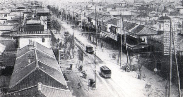 Ulice starého Tokia.