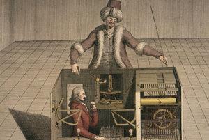 Takto si tajomstvo Kempelenovho šachového automatu predstavoval koncom 18. storočia Joseph Friedrich Freiherr von Racknitz.