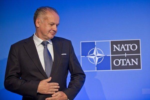 Andrej Kiska na summite v Bruseli.