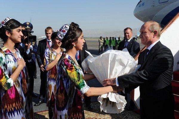 Vladimír Putin na decembrovej návšteve v Dušanbe.