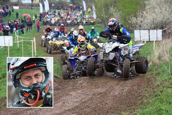 Juraj Varga z Nitry súťaží na motorových štvorkolkách na pretekoch v Česku, Nemecku a Maďarsku.