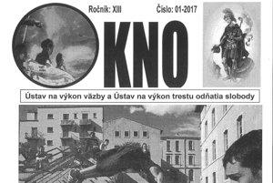 Odsúdenými vydávaný časopis s názvom Okno. Tri titulné strany rôznych vydaní. Na tej vľavo spolupracovala Alžbeta.