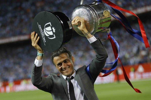 Finále pohára bol posledným pre Luisa Enriqueho na lavičke Barcelony.