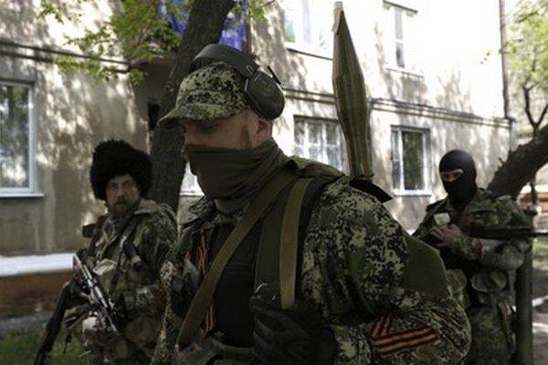Proruskí militanti v Kramatorsku.