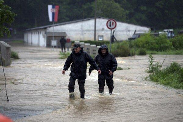 Povodne v Srbsku.