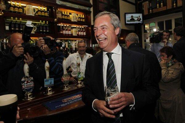 Víťaz eurovolieb v Británii Nigel Farage.