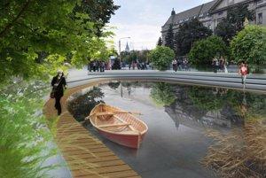 Ďalší projekt z roku 2011. Navrhovali náhon obnoviť a prepojiť ním centrum mesta s Aničkou.