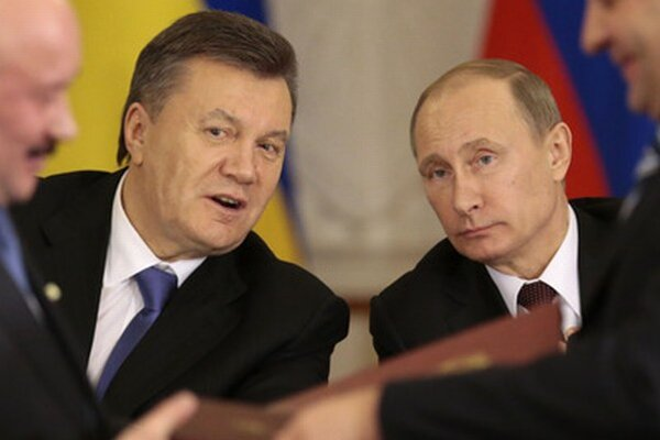 Viktor Janukovyč a Vladimir Putin.