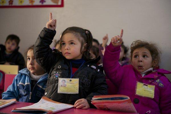 Vzdelanie má pre deti v Sýrii veľkú hodnotu.