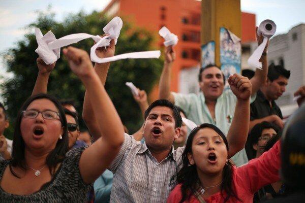 Protivládne protesty vo Venezuele.
