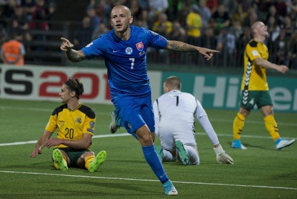 Vladimír Weiss ml. v reprezentačnom drese.