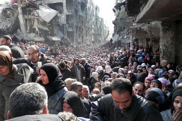 Utečenci zo Sýrie.