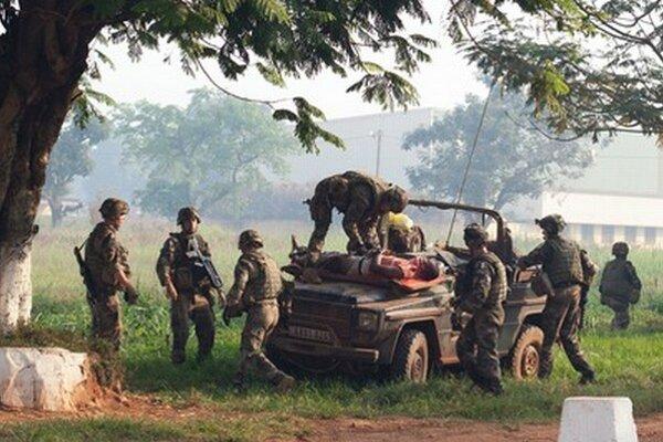 Francúzski vojaci v Stredoafrickej republike.