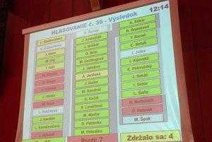 Títo poslanci hlasovali za predaj akcií v Kosite.