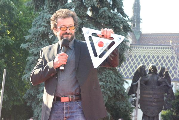 Festivalovú cenu Hercova misia si český herec podvečer slávnostne prevzal v centre Košíc.