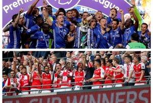 V Community Shield sa stretnú majster Premier League Chelsea (hore) a víťaz FA Cupu Arsenal.