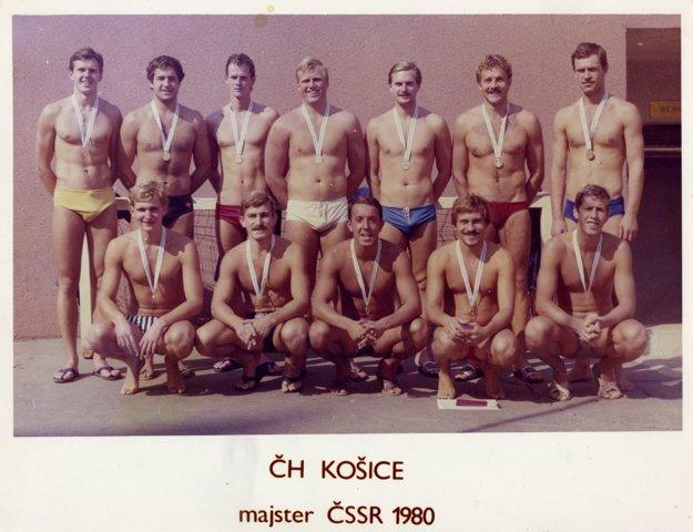 ČH Košice - majster ČSSR v roku 1980. Ján Bohát je v hornom rade v strede.
