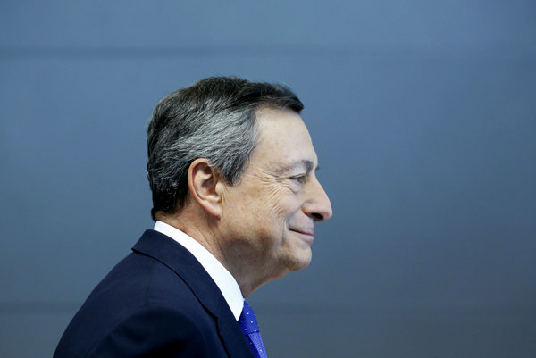 Prezident Európskej centrálnej banky Mario Draghi.