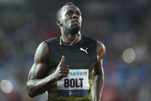 Usain Bolt vyhral v Ostrave aj pri svojom deviatom štarte.