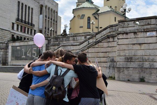 Hug day priniesol do Žiliny uvoľnenie a radosť.